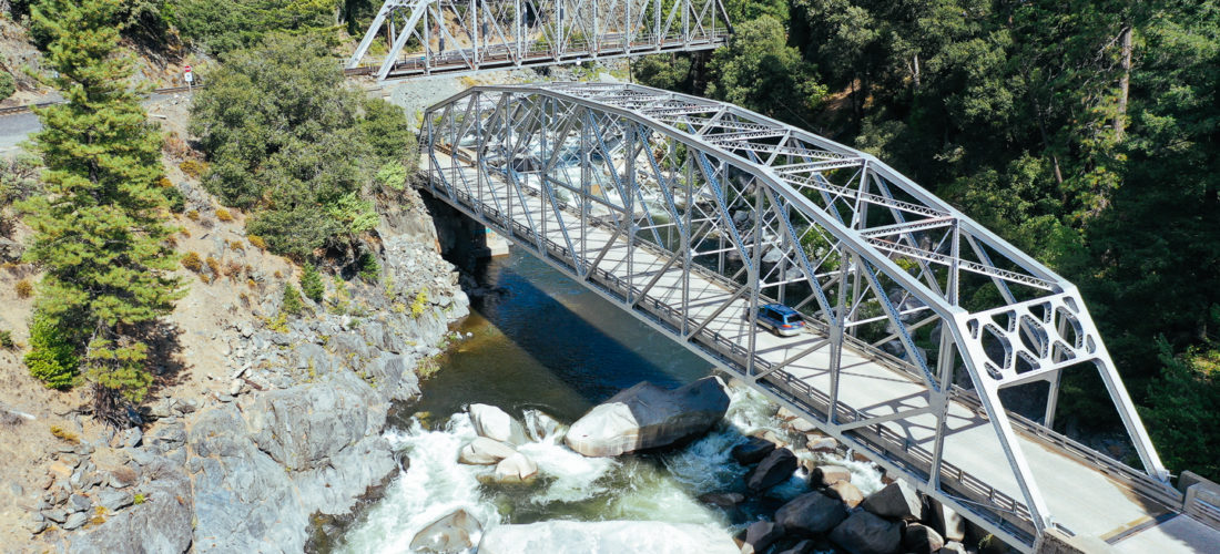 The Tobin Bridges above the North Fork of the Feather River