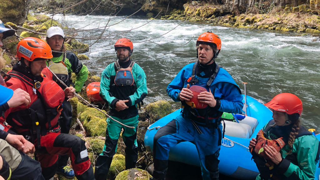 Dave Prothero debriefing an IRF Instructor Course