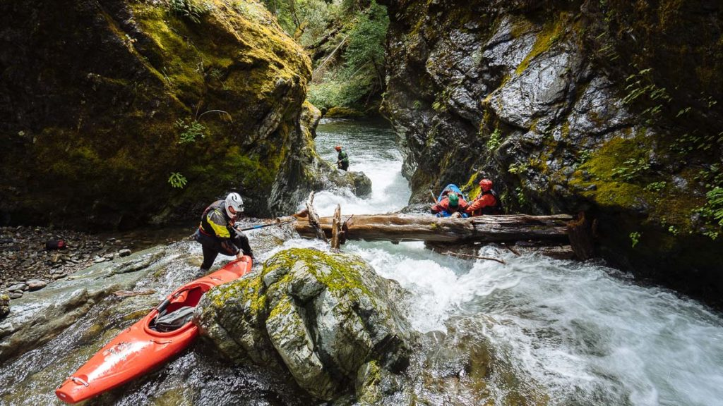 The narrow pinch on the East Fork of Indigo Creek